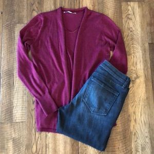 NEW LISTING! Burgundy Cardigan